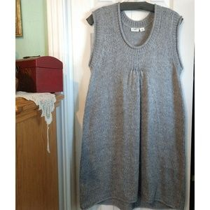 Cato's Gray Sleeveless Sweater Dress